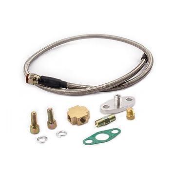 maXpeedingrods Univeral Kit de Línea de Aceite Turbo Piezas para T3/T4 T7 T04