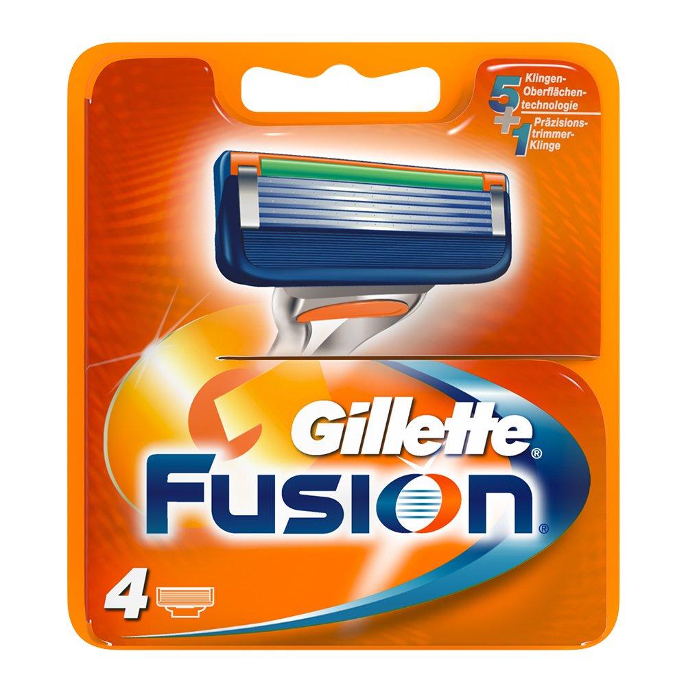 Gillette Fusion - Lames de Rasoir pour Homme - Pack de 4