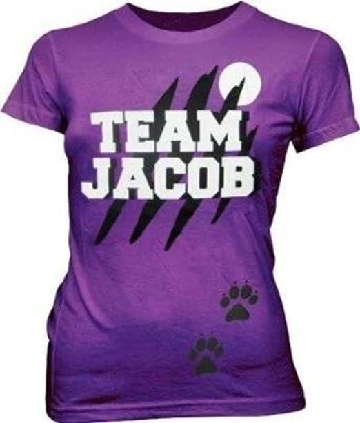 78280d62145 Amazon.com  Team Jacob Wolf Purple Juniors T-shirt Tee  Clothing