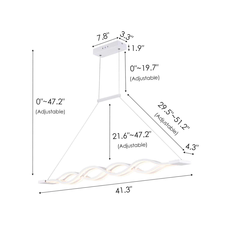 Everflowery Modern Pendant Light Mini Ceiling Mounted Living Room Fluorescent Bulbs Diagram Lamp Eurolite 23w Has A Led Hanging Fixture Adjustable Height Lighting For Kitchen Island