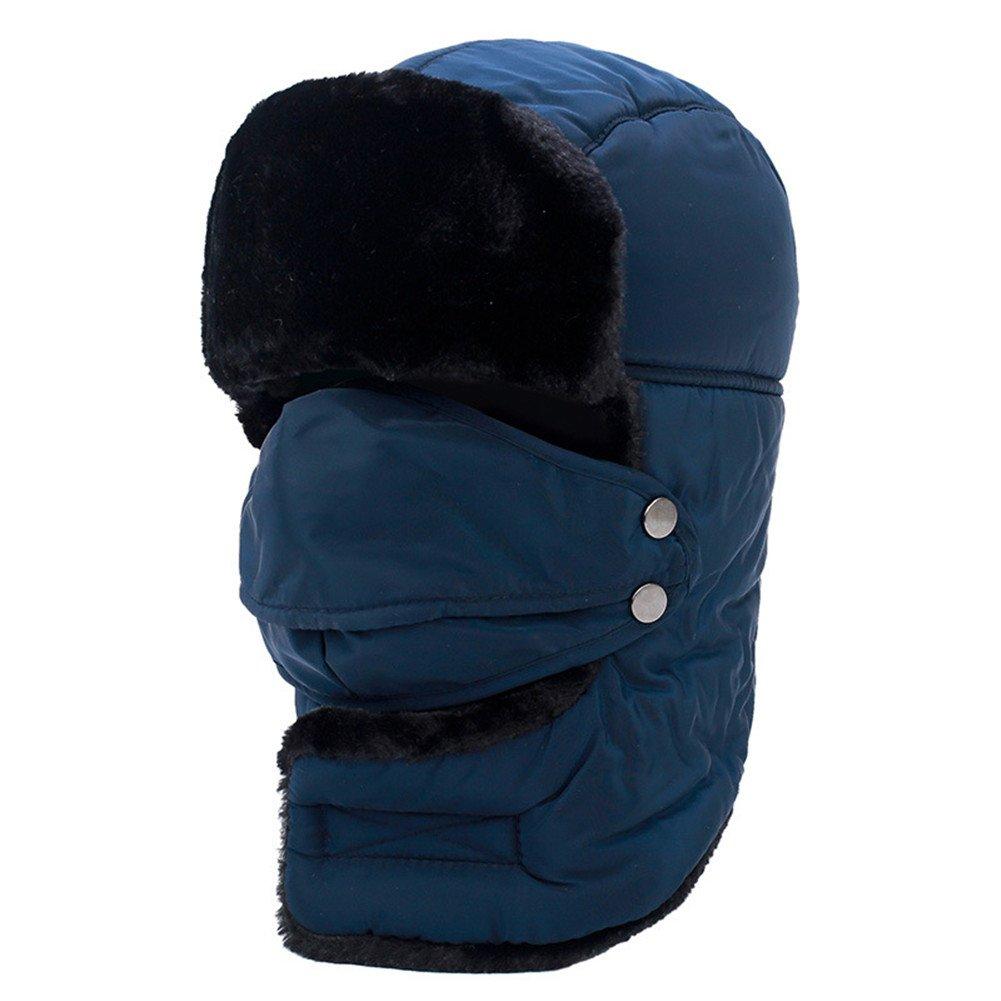 TaoRong Winter Trapper Hats Bomber Hats Waterproof Ear Flap Cap Breathble Detachable Mask Men Women