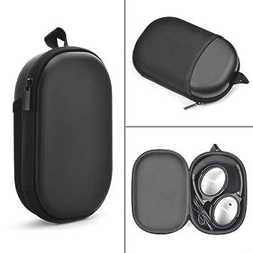 Funda para Bose QuietComfort 35, Gigabit auriculares funda de transporte protectora de viaje bolsa para Bose qc35 QC15 QC25 inalámbrico Bluetooth ...