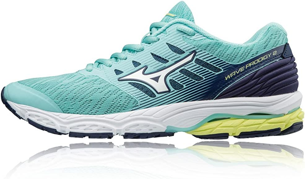 Mizuno Wave Prodigy 2, Zapatillas para Mujer, Multicolor (Aqua Splash/Silv/Blue 001), 38 EU: Amazon.es: Zapatos y complementos