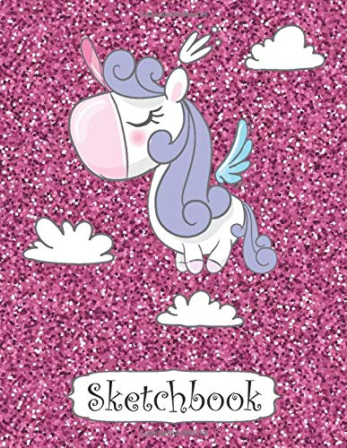 Sketchbook Cute Unicorn On Pink Glitter Effect Background Sketchbook Journal For Girls 110 Pages Of 8 5 X11 Blank Paper For Drawing Doodling Or Sketching Sketch Books For Kids Reads Splendid 9798644542925 Amazon Com Books
