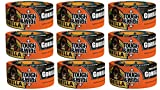 Gorilla Tape, Black Tough & Wide Duct Tape, 2.88'' x 30 yd, Black, (Pack of 9)