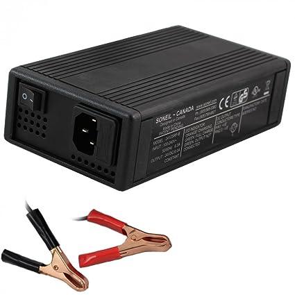 Amazon.com: soneil 24 voltios, 6 Amp Cargador de batería ...