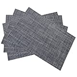 """Table Placemats Non-slip Heat Insulation Woven Vinyl Placemat Washable Coaster Tableware for Kitchen Dinning Table 4 Pieces 18""""x 12"""""""