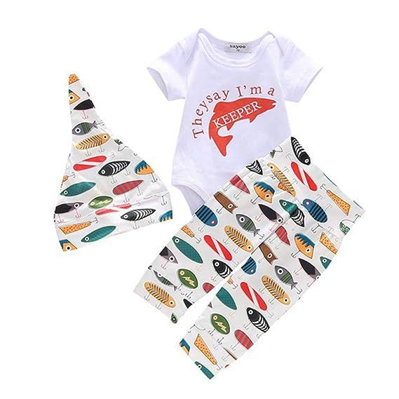 TTLOVE/_Baby Strampler Neugeboren Babykleidung S/äugling Baby M/ädchen Langarm Regenbogen Leopardenmuster Tops T/äglich Hose Haarband Mode Outfits Kleider Set