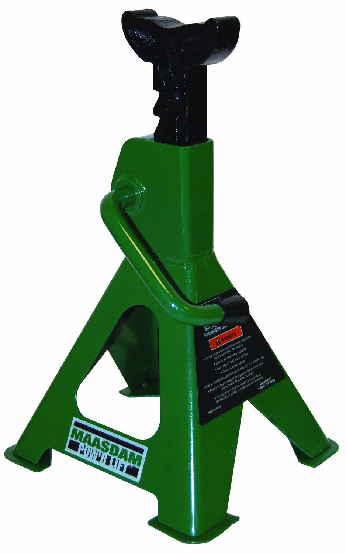 Maasdam MPL4117 Jack Stand Pair, 2 Ton Weighing Capacity, Green by Maasdam