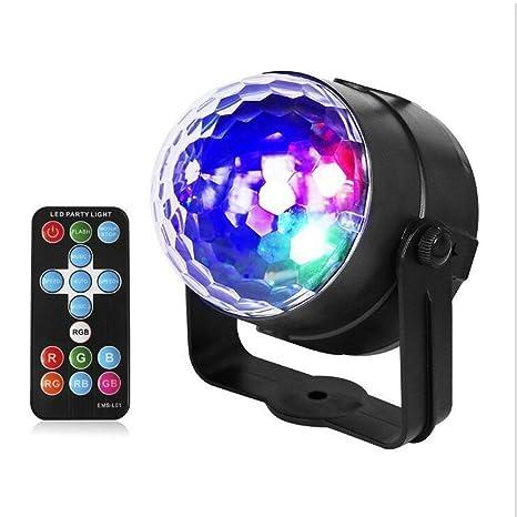 yunchenghe Disco luces pelota Disco Sonido activé fiesta luz LED ...