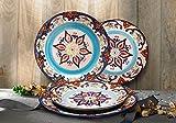 Stoneware Plate Accent Dinnerware Plates 4 Piece