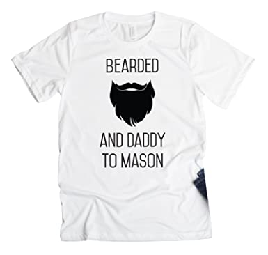 d42957876 Amazon.com: Personalized Father Daughter Beard Shirts for Dad - Funny Dad  Gifts from Daughter or Son, Bearded and Daddy Design: Clothing