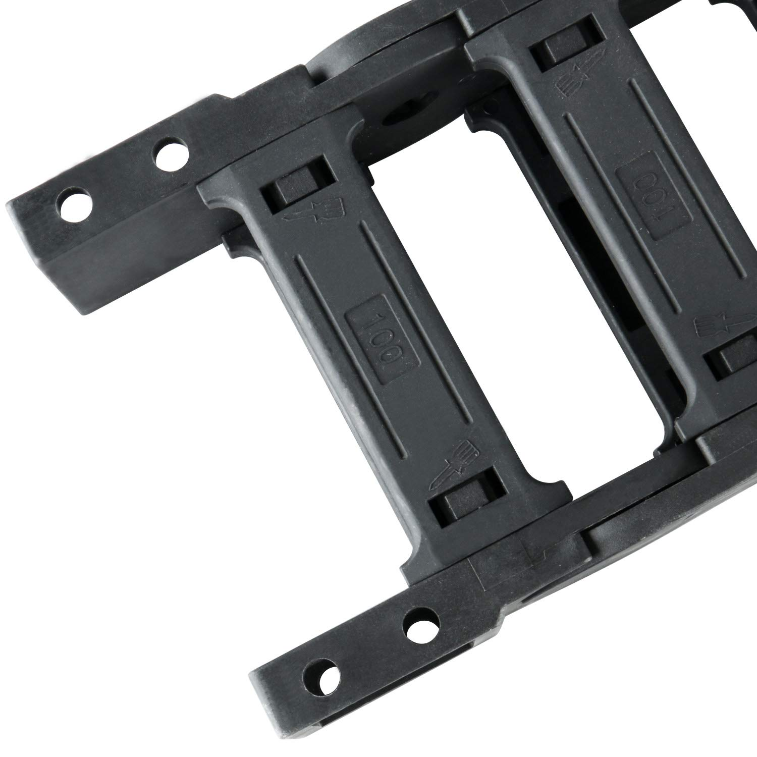 Plastic Drag Chain Cable Carrier with End Connectors 35 x 60mm L1040mm for Electrical CNC Router Machines