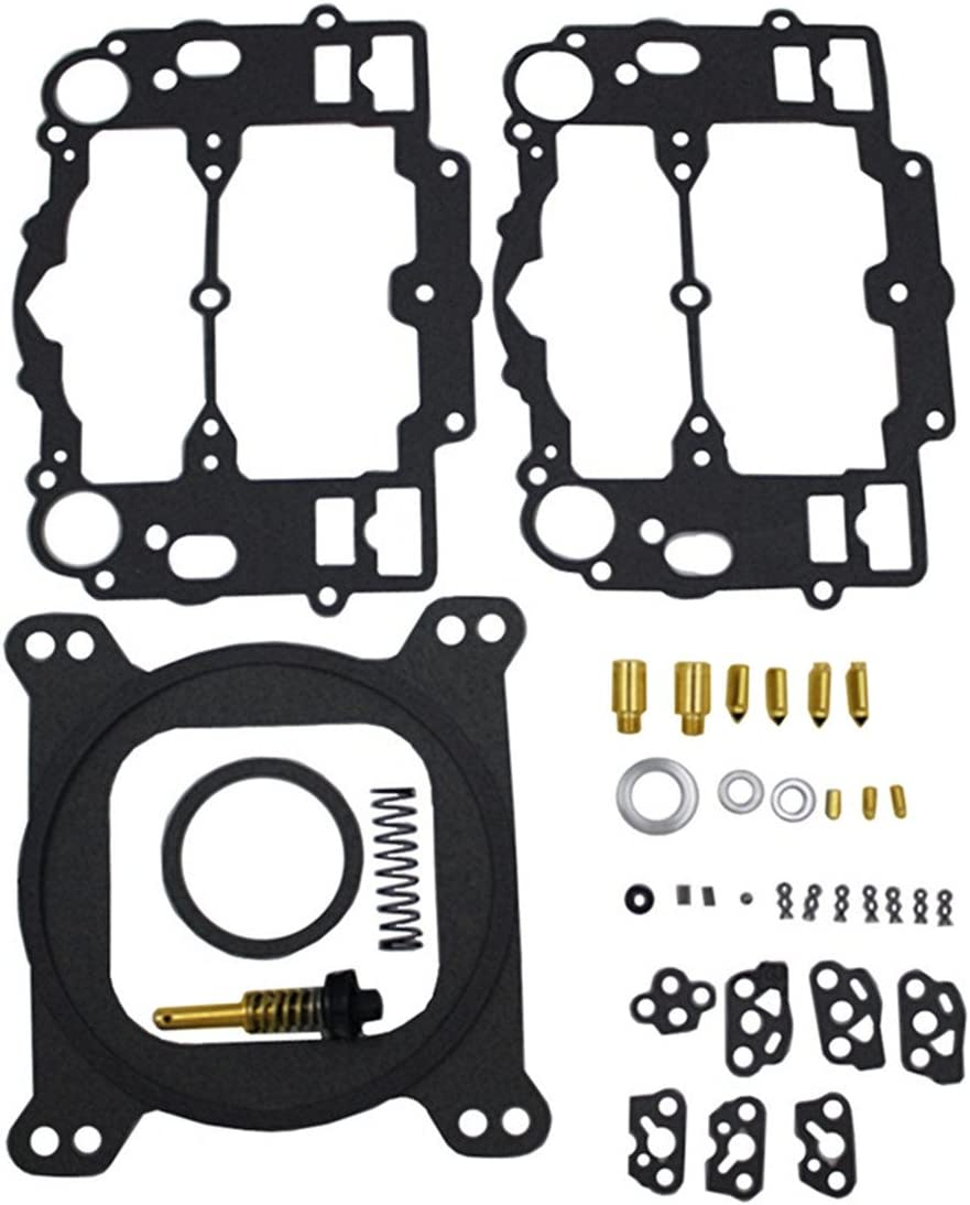 KIPA Carburetor Rebuild Kit For EDELBROCK # 1477 1400 1404 1405 1406 1407 1409 1411 Fits all Automotive 500 600 650 700 750 /& 800 CFM Weber Marine carburetor Mercruiser kit # 809064 Carter 9000 series