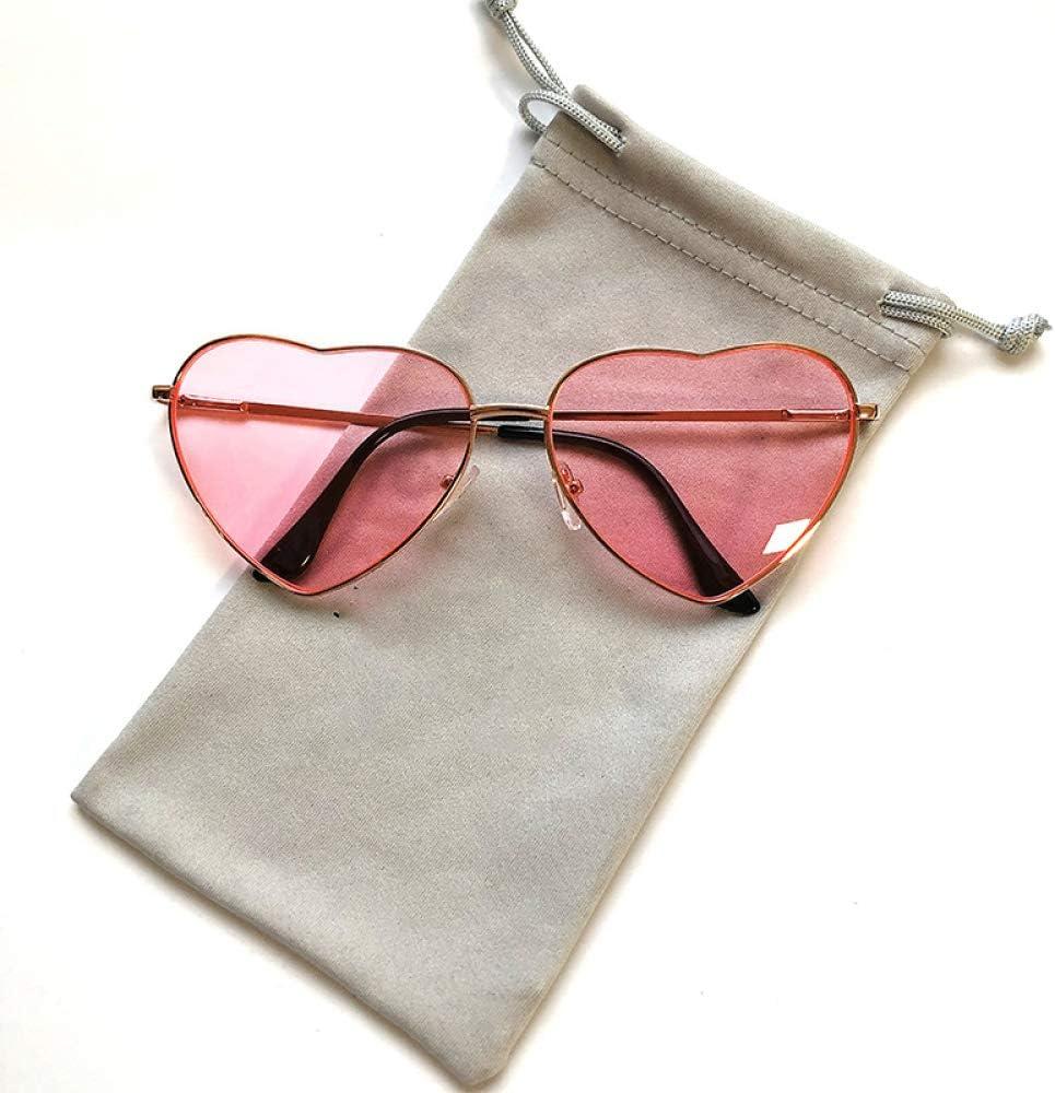No_brand Occhiali da Sole Vintage A Cuore Donne Designer di Marca Candy Color Gradient Occhiali da Sole Occhiali da Esterno Occhiali da Sole da Donna Gold Pinkyellow