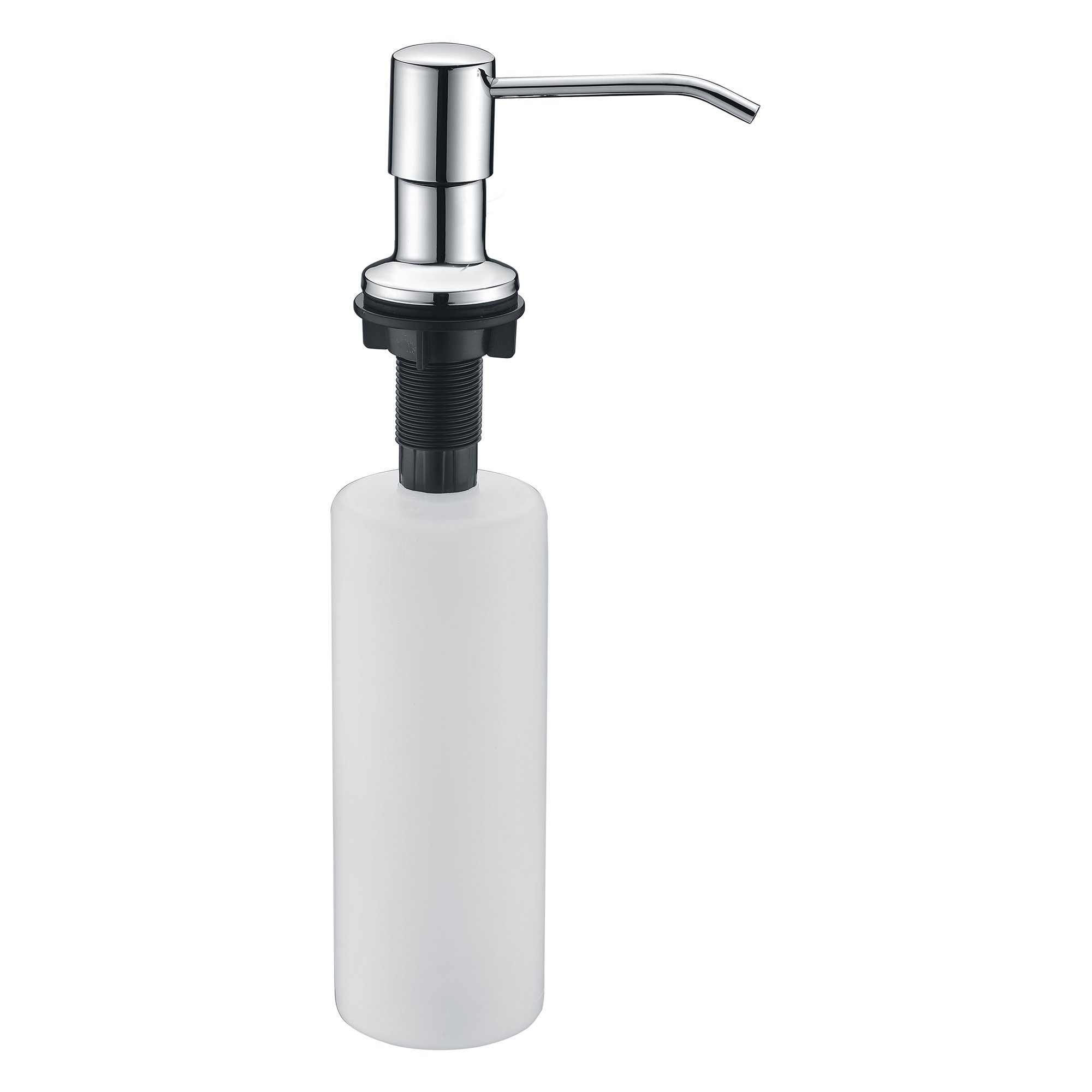 SUCASA Chrome Kitchen Sink Soap Dispenser Stainless Steel Pump Head 17 oz Large Volume Liquid Bottle Bathroom Lotion Dispenser Basic Kitchen Sink Accessories by SUCASA (Image #3)