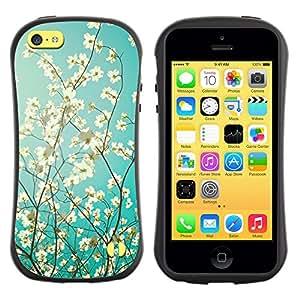 Fuerte Suave TPU GEL Caso Carcasa de Protección Funda para Apple Iphone 5C / Business Style Sunshine Tree Sunny Summer