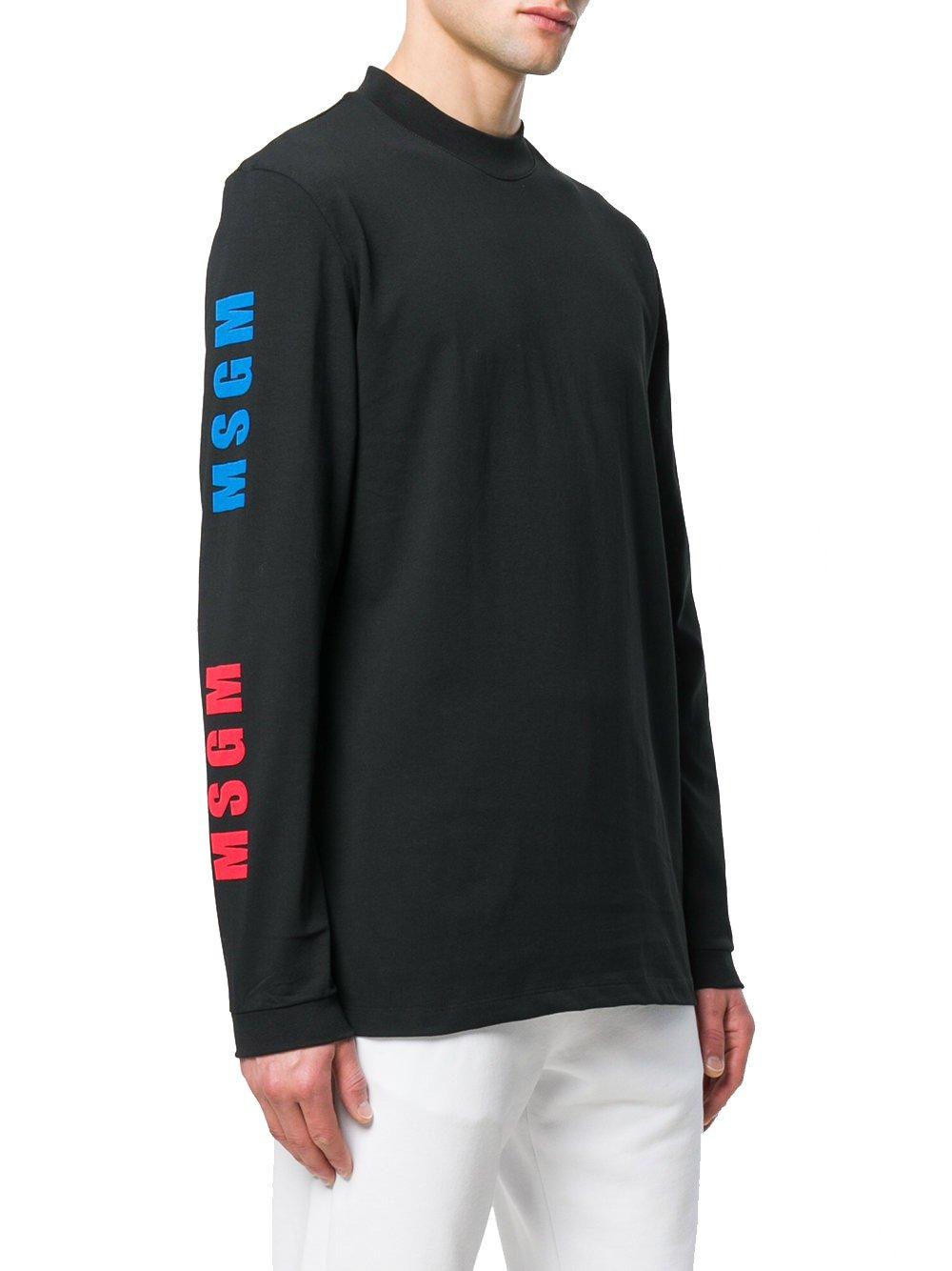 MSGM Men's 2440Mm10318429999 Black Cotton Sweatshirt