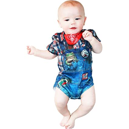 29017b1123dc Amazon.com  Baby Boys  Boy Hillbilly Costume T-Shirt - 6mo  Toys   Games