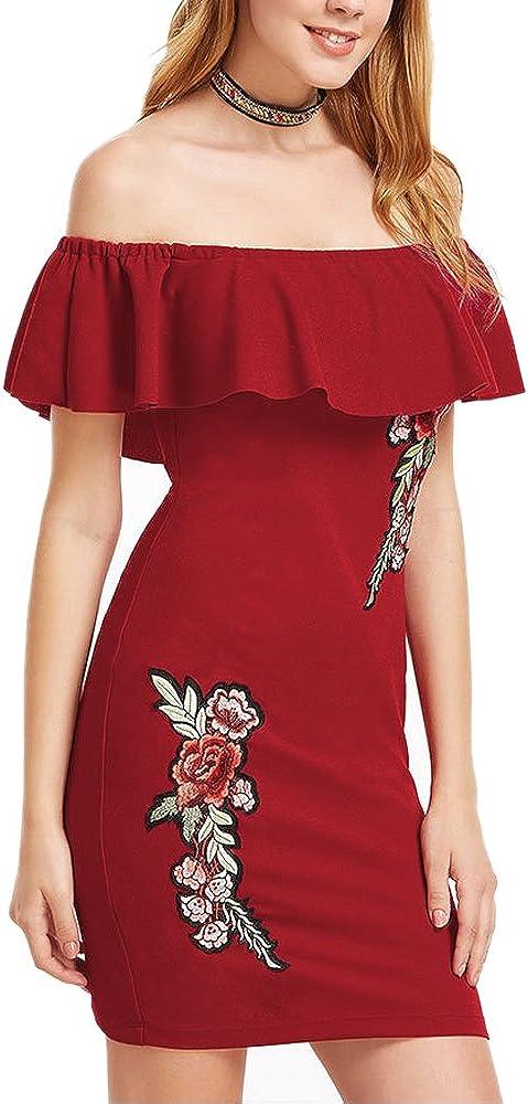 Landove Vestito Corto Donna Elegante Cerimonia Sera Cocktail Boho Chic Abito Aderente Stampato Floreale Vestiti Maniche Corte Abiti Senza Spalline Moda Vestitini Estivi Ragazza Mini Dress