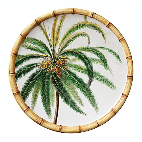 Botanica Bamboo Merritt International 9in. Melamine Salad Plate - Palm Tree