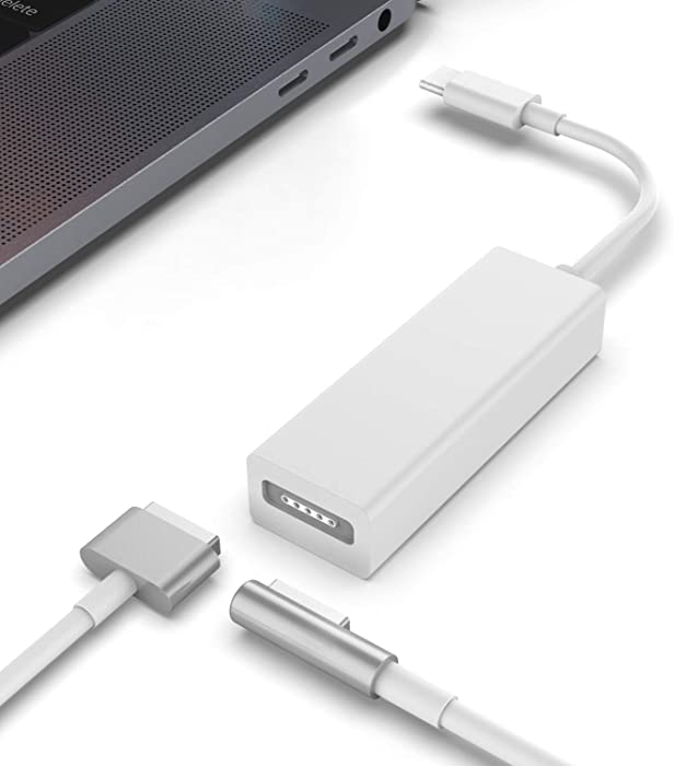 Jevtech Replacement for Type C to MagSafe 1 & MagSafe 2 Adapter USB C MagSafe Adapter Jevtech MacBook Pro, Chromebook
