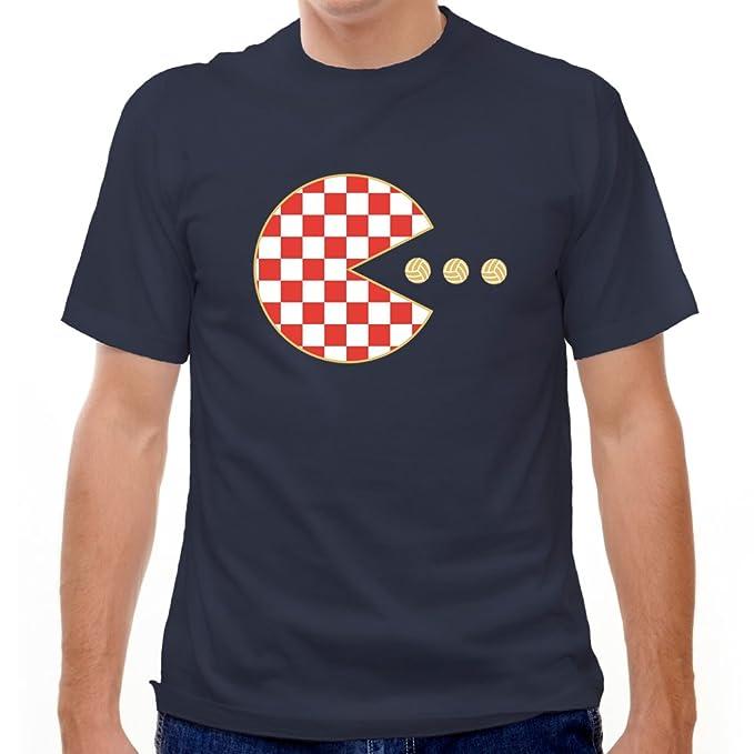 Croacia Pac-Man camiseta de fútbol Azul azul marino Medium