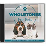 Wholetones Pets CD - Calming Music Speaker for Stressed Dogs & Cats - Helps with Fireworks, Thunderstorms, Separation Anxiety