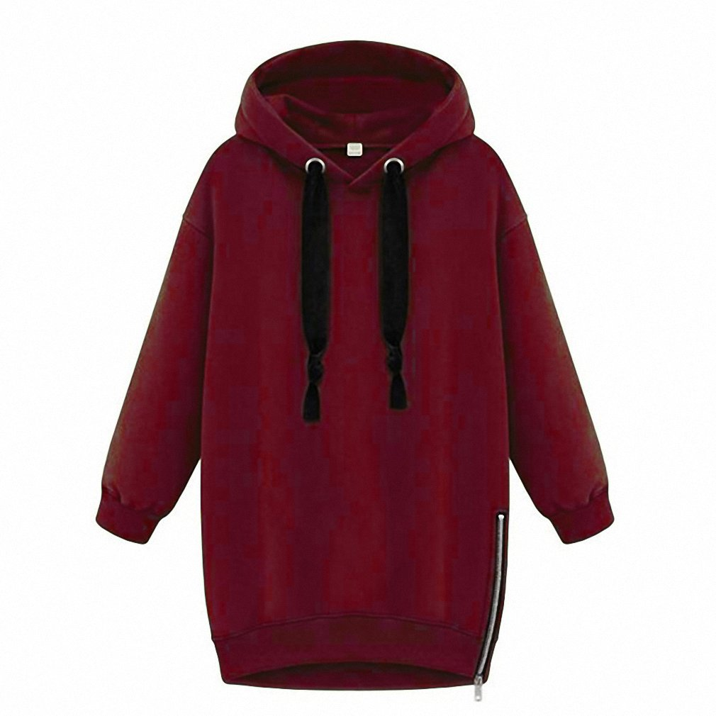 Spring Women Lady Cotton Loose Hooded Jacket Thicken Velvet Long sleeve Sweatshirt Korean Style Hoodies at Amazon Womens Clothing store: