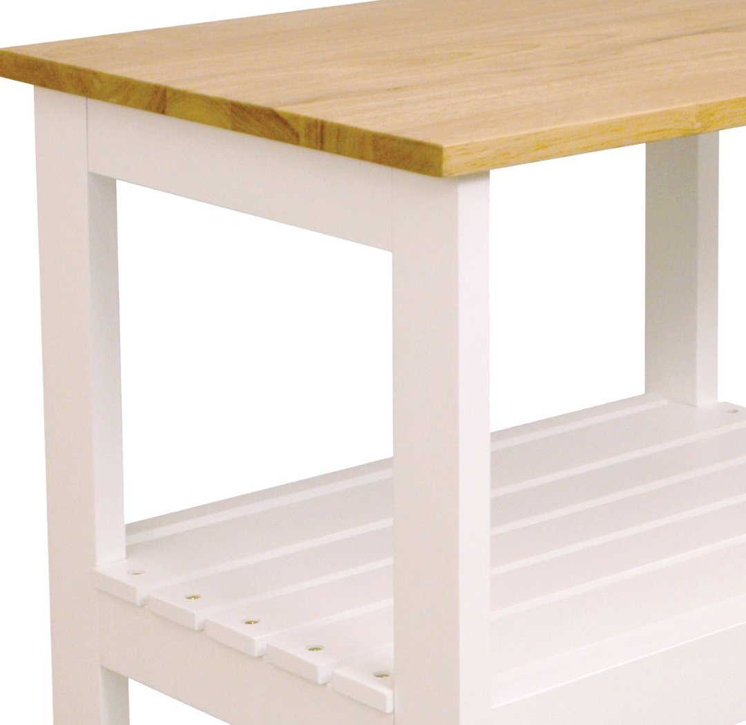 Catskill Craftsmen Utility Kitchen Cart/Microwave Stand, White Base with Natural Top by Catskill Craftsmen (Image #8)