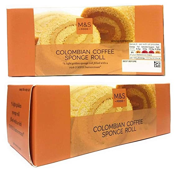 Marks And Spencer Colombian Coffee Swiss Roll Golden