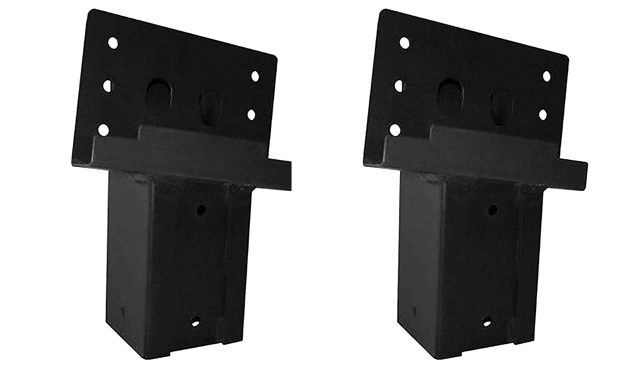 Elevators 4x4 Brackets for Deer Blinds, Playhouses, Swing Sets, Tree Houses. Made in The USA with Premium Construction Grade Steel. (Set of 4) (Pack of 2)