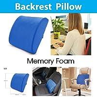 Memory Foam Lumbar Back Waist Support Cushion Pillow Office Home Chair Car Seat