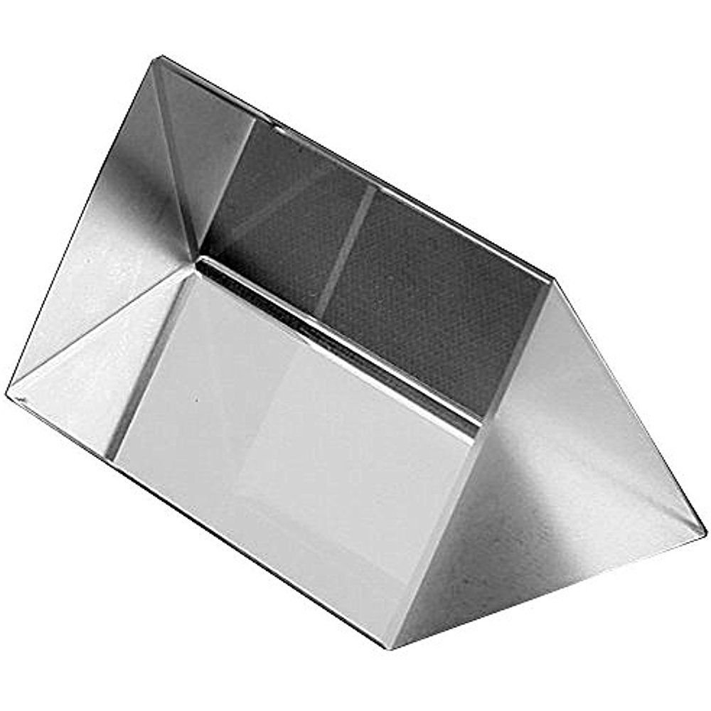 2'' Crystal Optical Glass Triangular Prism use to Teaching Light Spectrum Physics 2 Long 1.2 and 1 Sides .