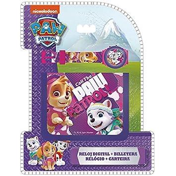 PAW PATROL Set con reloj de pulsera digital y billetera unica Kids Euroswan PW16272: Amazon.es: Juguetes y juegos