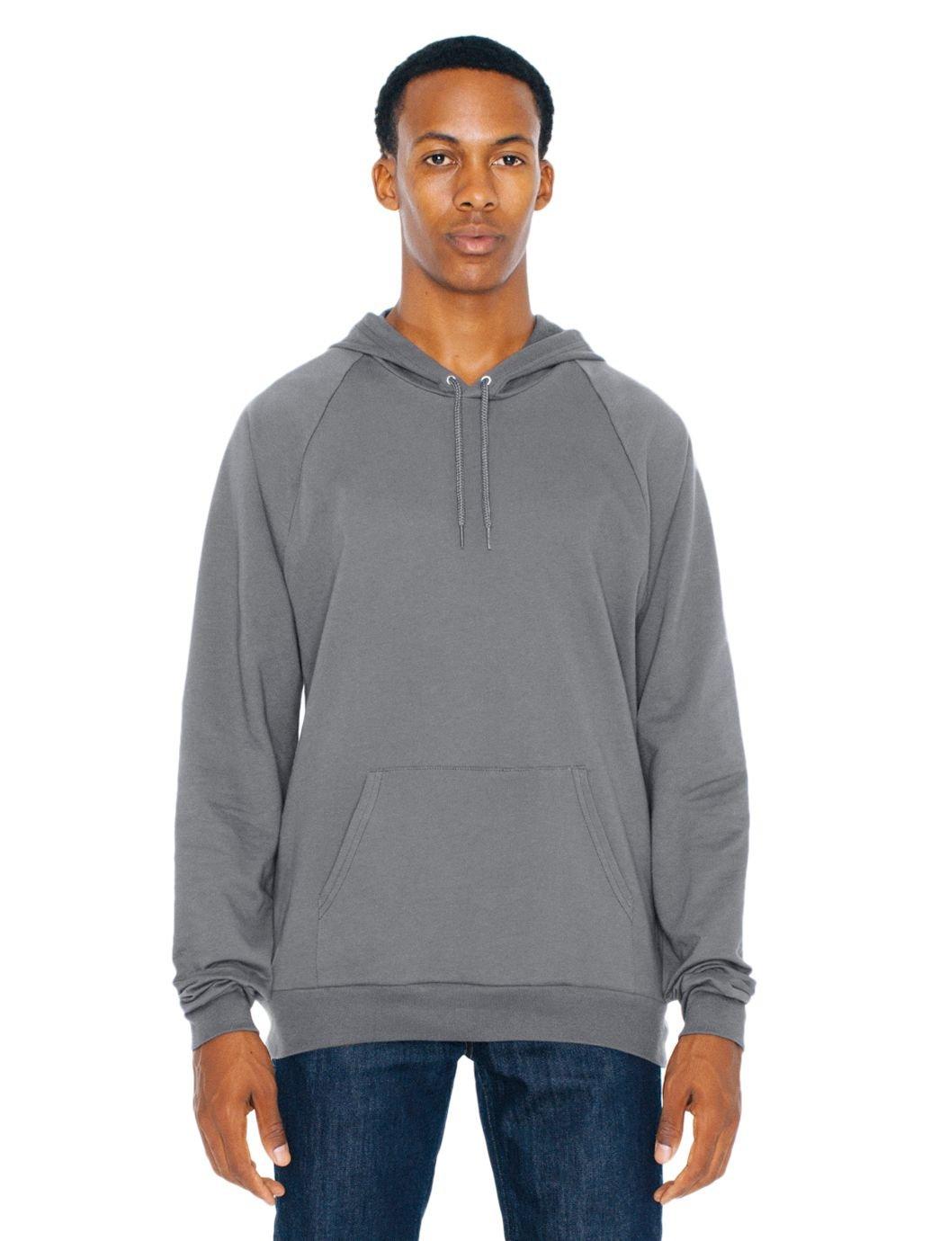 American Apparel Men\'s California Fleece Pullover Hoodie American Apparel Mens 5495