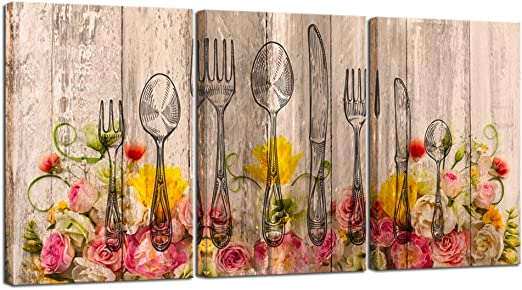 Spices On Spoons Collection Giclee Canvas Kitchen Dining Room Wall Art Picture