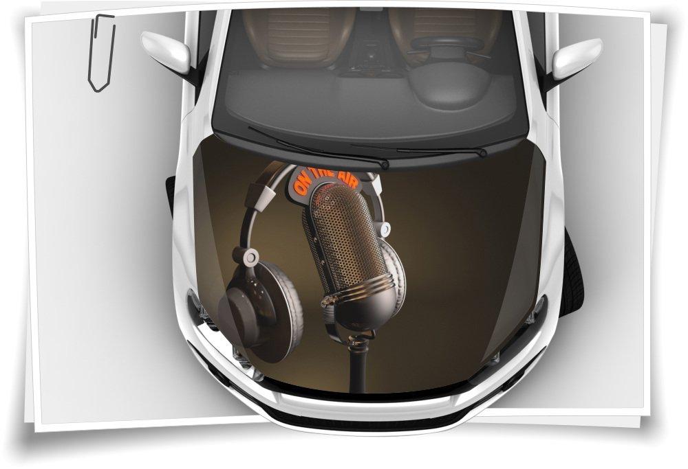 Tonstudio Mikrofon Musik Autoaufkleber Airbrush Motorhaube Carwrapping Folie RapidAir