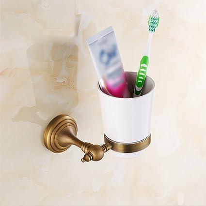 LD&P Accesorios de baño, titular de cepillo de dientes de baño, estilo contemporáneo material