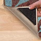 Quaanti 2018 Bathroom Accessories Home & Living 4 X Carpet Pad Non Slip Tri Sticker Anti Slip Mat Pads Anti Slip (Black)