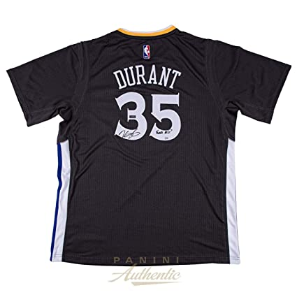"fc5443e64ce Kevin Durant Autographed Charcoal Golden State Warriors Swingman Jersey  with""Finals MVP"" Inscription ~"