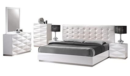 Amazon.com: JNM Furniture Verona Contemporary King Bedroom ...