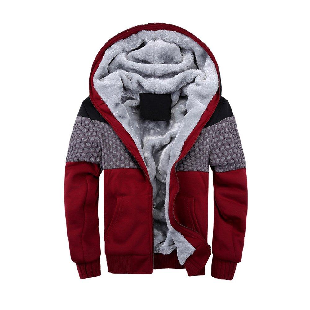 Perfectii Hoody Zip Mens Zip Hoodie Sweatjacke Hooded Plus Thick Velvet Hooded