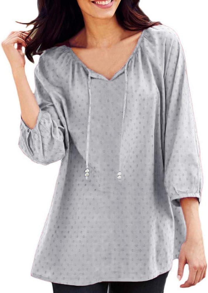Camisetas Basicas Mujer Ronamick Comfort Blusa Transparente Tops Mujer Lentejuelas Comfort Camisa Blanca Niña (gris,L): Amazon.es: Iluminación