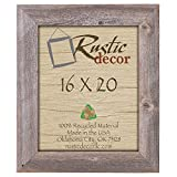 16×20- 3.5″ Extra Wide Reclaimed Rustic Barnwood Wall Frame Review