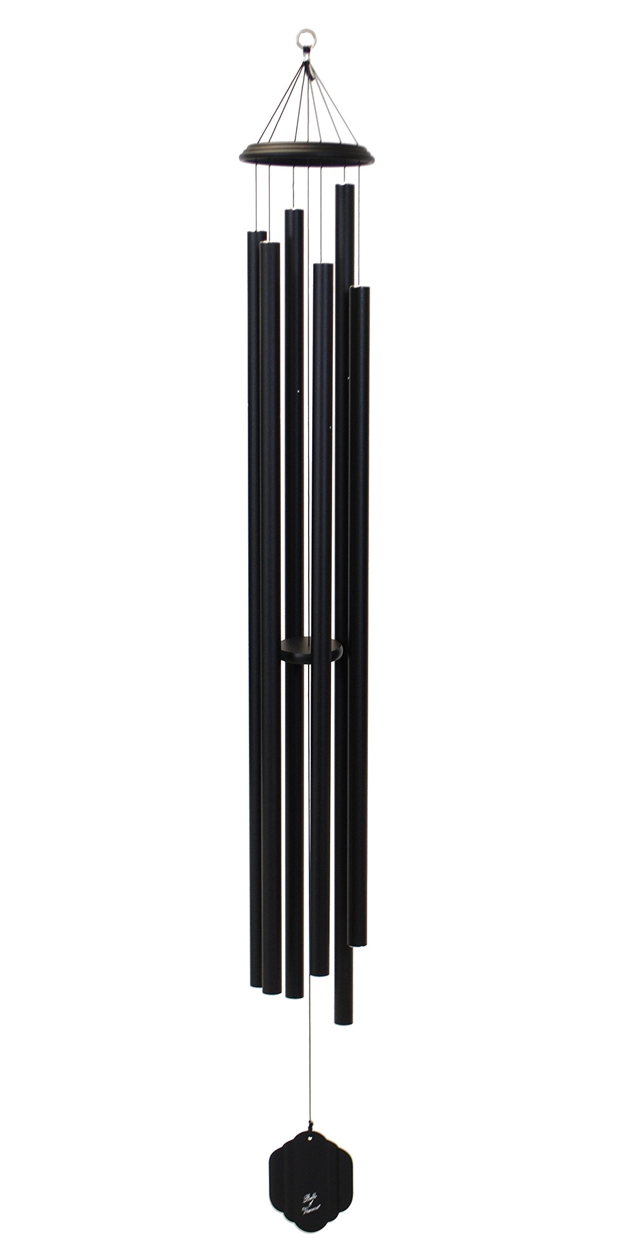 Bells of Vienna 74-inch Windchime, Black