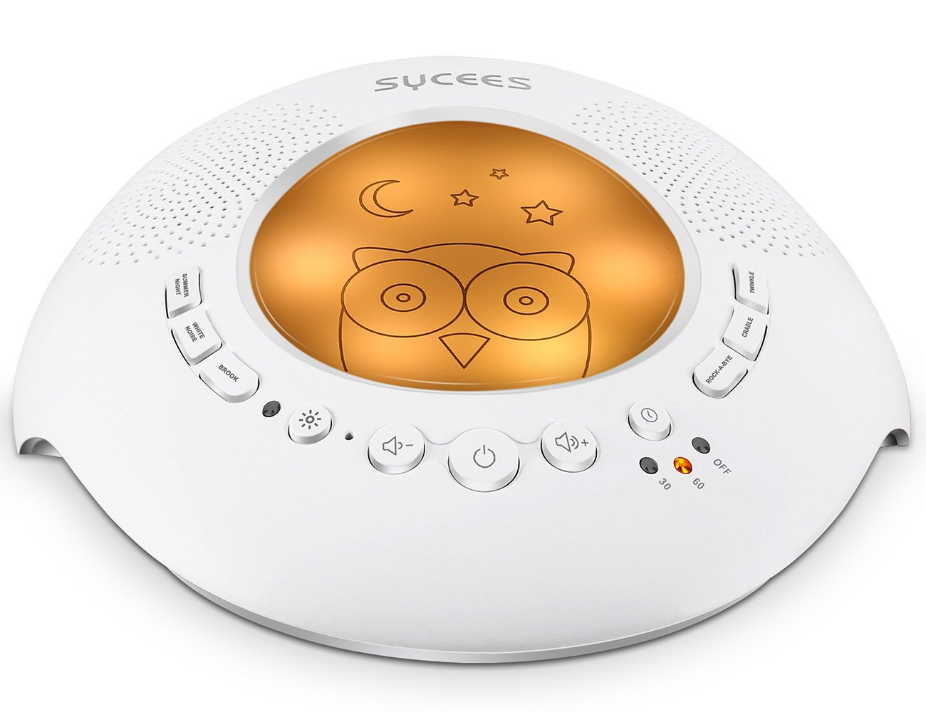 Sycees White Noise Sound Machine with Night Light