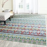 Safavieh Valencia Collection VAL220L Blue and Multi Distressed Bohemian Silky Polyester Area Rug (4′ x 6′) Review