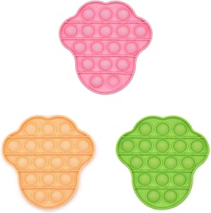 XMY Pop Bubble Sensory Fidget Fidget Toy [Food Grade Silicone] Pop Game Educational STEM Playing Board Stress Reliever Squeeze Sensory Fidget Fidget Toy for Kids Adults.(Beer Style-Pink/Orange/Green