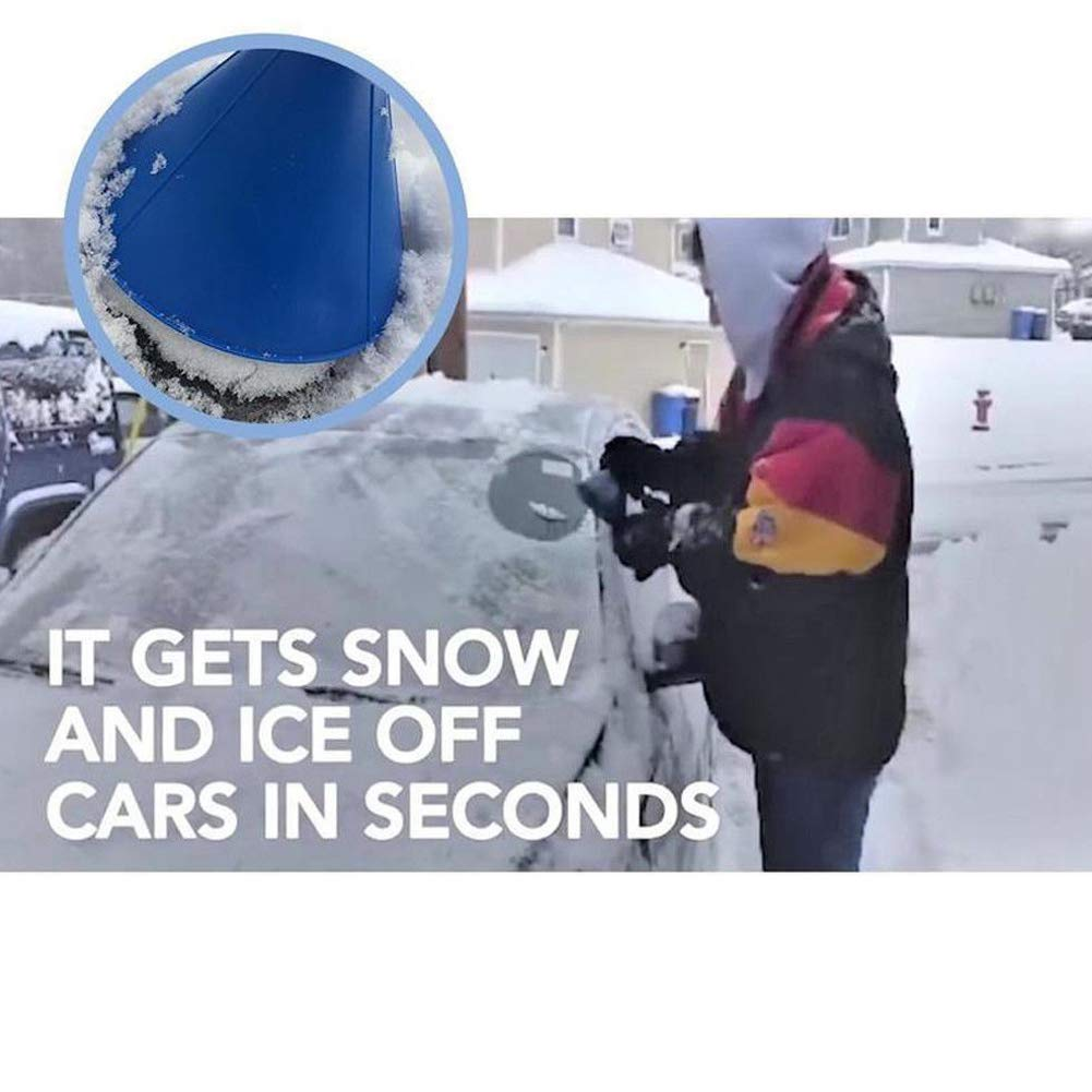 Car Windshield Snow Scraper Cone Shaped Windshield Snow Funnel Shovel Tool Will Scrape Pesky Frost and Ice from Windscreens and Side Windows with Ease Scrape A Round Magic Ice Scraper Black